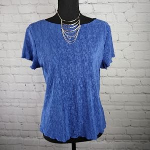 dressbarn Periwinkle Textured Party Dress Top L